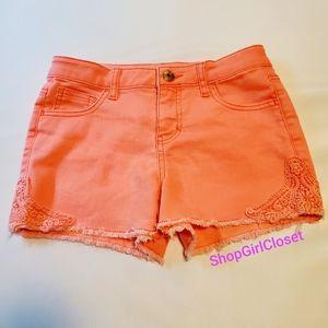 Pink / Coral Girls Shorts sz Large